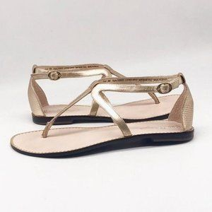 Lilly Pulitzer Heather sandal gold size 9